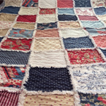 CUSTOM LISTING - RAGGED QUILT - QUEEN SIZE
