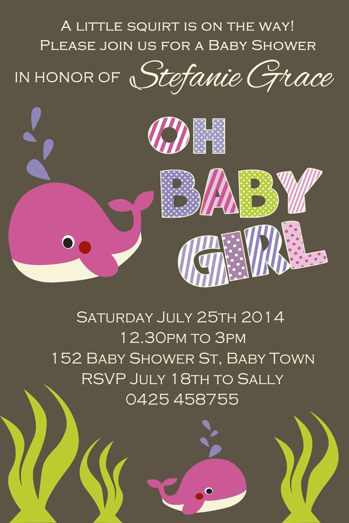 Under the sea animals baby shower invitation invitations invite ...