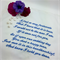 Wedding Handkerchief, Hanky Embroidered from the Groom to the Groom's Mother.