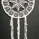 White Crochet Doily Dream Catcher