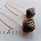 Argentium Sterling Silver & mottled brown Czech glass bead earrings