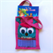 Pink monster colouring in bag with pencil teeth, magenta