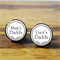 My Daddy - stainless steel custom cufflinks - Father's Day gift, New Dad
