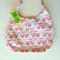 Ladies Handbag - Retro Flamingo - pink & white, cotton, handmade, bag, purse