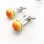 Cufflinks - Burgers - Hamburger Unisex Cufflinks - food jewelry