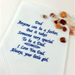 Handkerchief, Hanky for Dad, with a Sentimental Verse.