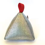 Pyramid Doorstop Metallic 'Silver' door stop