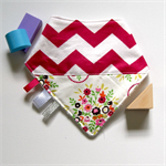 Sensory Dribble Bib | Pink Zig Zag / Floral Design