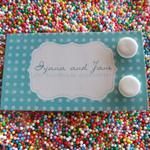 Plain Jane stud earrings White